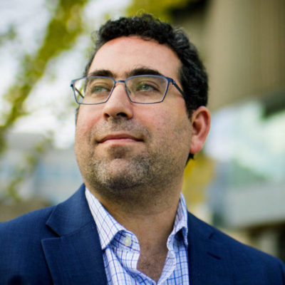 11/02/17 - BOSTON, MA. - Max Abrahms, Terrorism Expert and Professor of Political Science, poses for a portait at Northeastern University on Nov. 2, 2017. Abrahms uses Twitter for his for his research, scholarship, and teaching. Photo by Matthew Modoono/Northeastern University